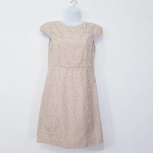 Elorie Cap Sleeves Low Back All Lace Dress